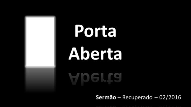 Sermão :  P O R T A A B E R T A – João 10:1-10  Pastor Julio Borges Filho  INTRODUÇÃO: – Texto da vida: O Papa […]
